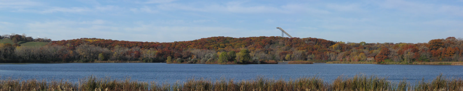 Hyland Park Ski Hills in Fall Colors